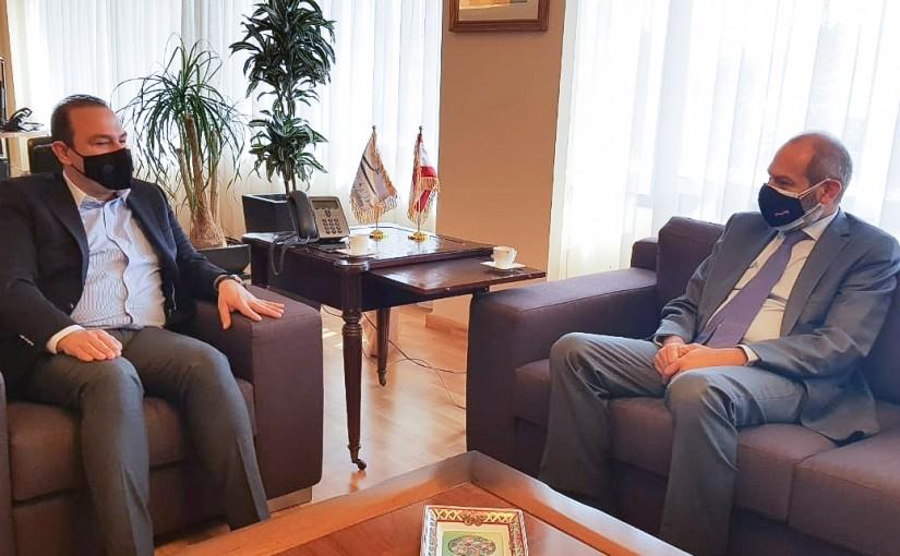 Minister Abass Mourtada meets Mr Fadi Yarak