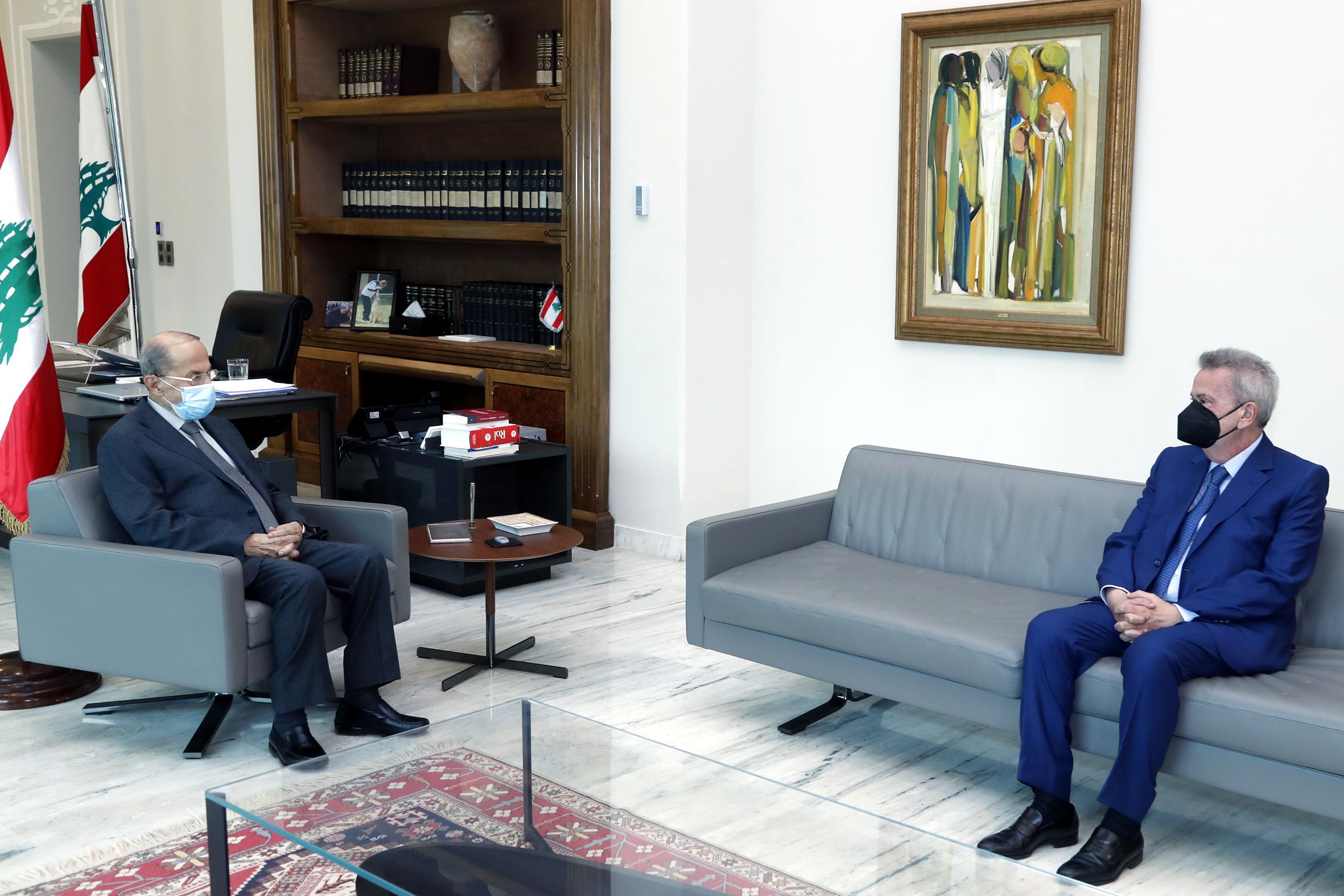 1 - Lebanon's central bank chief Riad Salameh