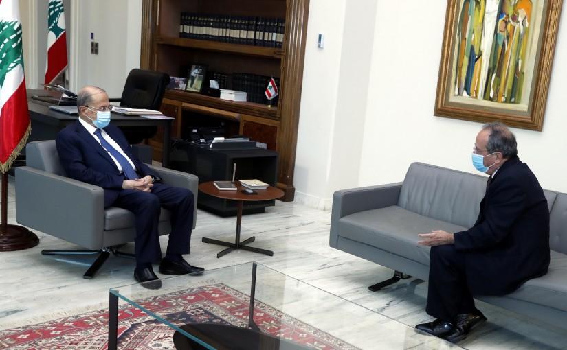 President Michel Aoun meets MP Jamil Al Sayed.