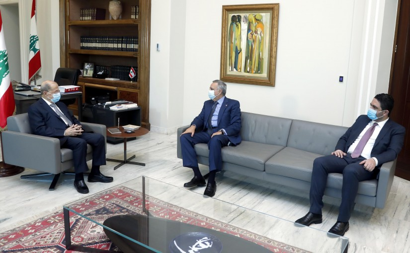 President Michel Aoun meets MP Talal Arslan and former Minister Saleh al-Gharib.