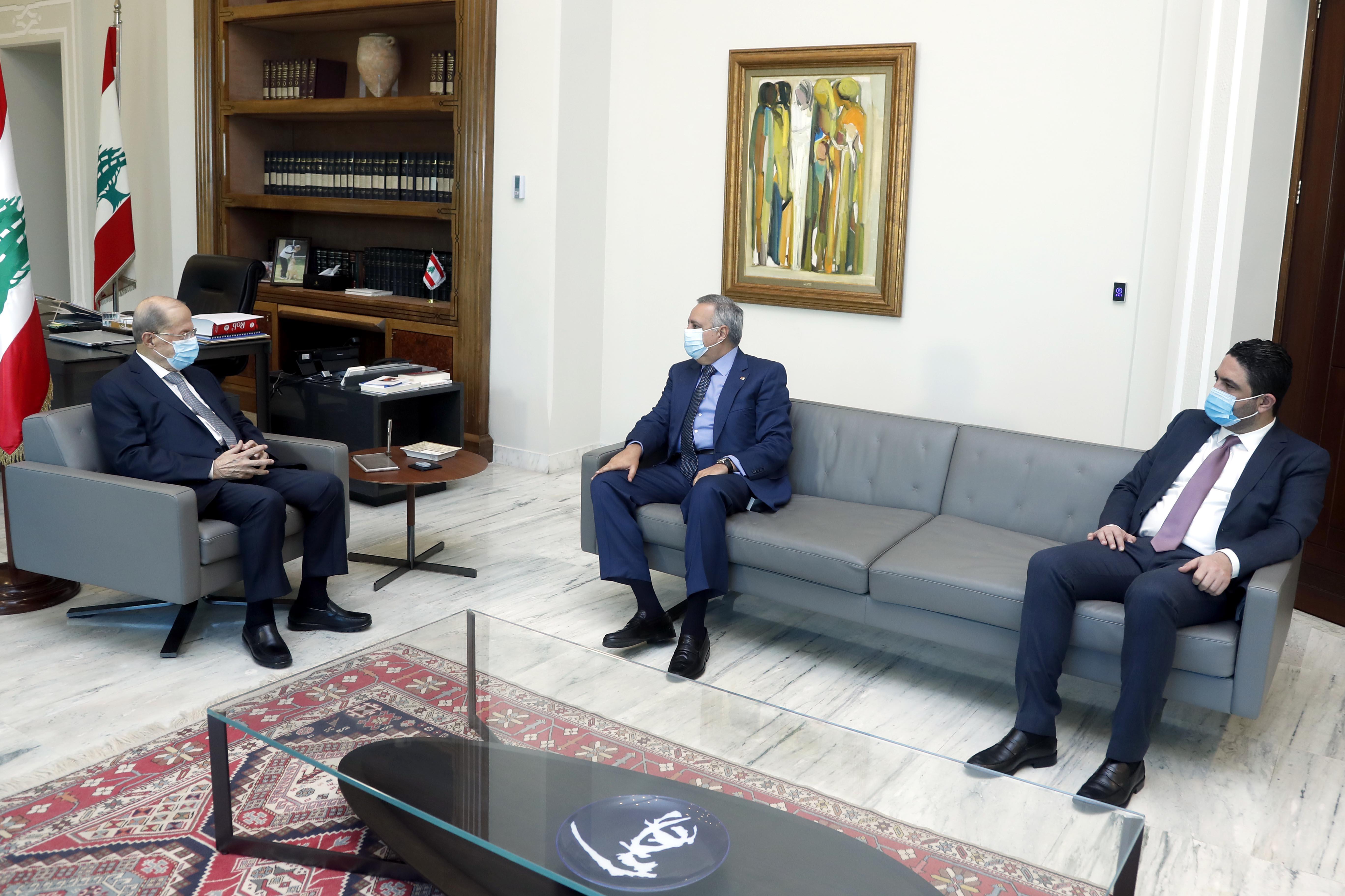 1 -MP Talal Arslan and former Minister Saleh al-Gharib (2) copy