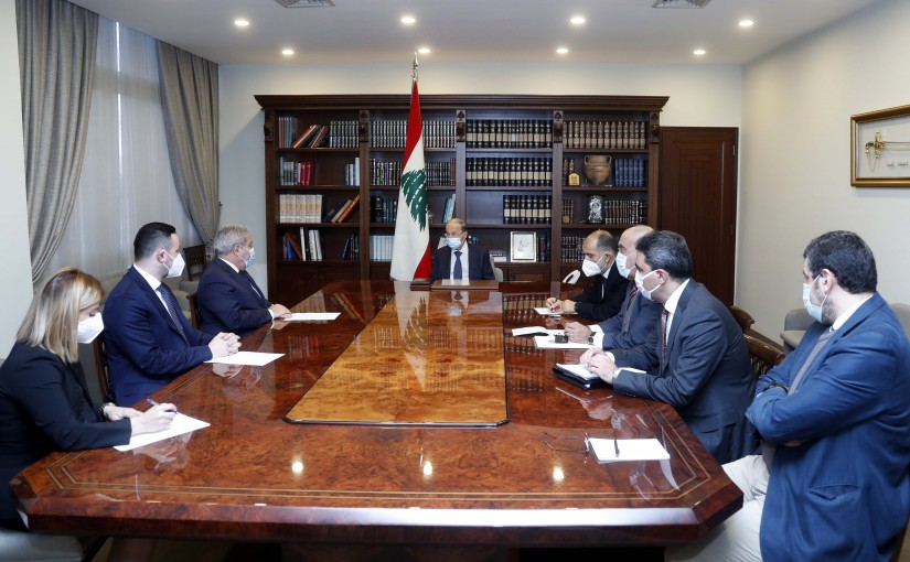 President Michel Aoun meets Minister Dr. Ramzi Moucharafieh.