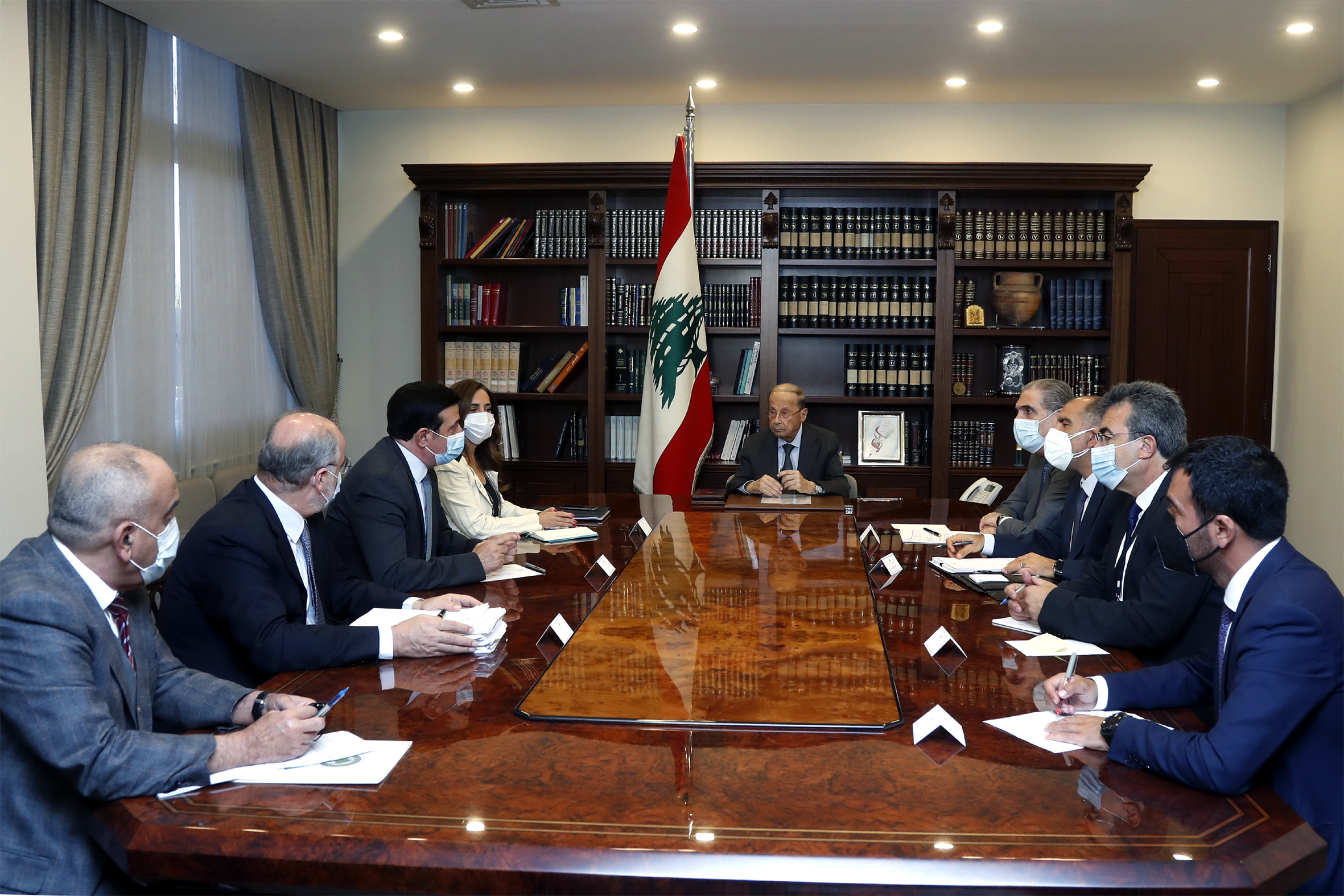 1 - Minister Zeina Akar and Minister Michel Najjar with a delegation