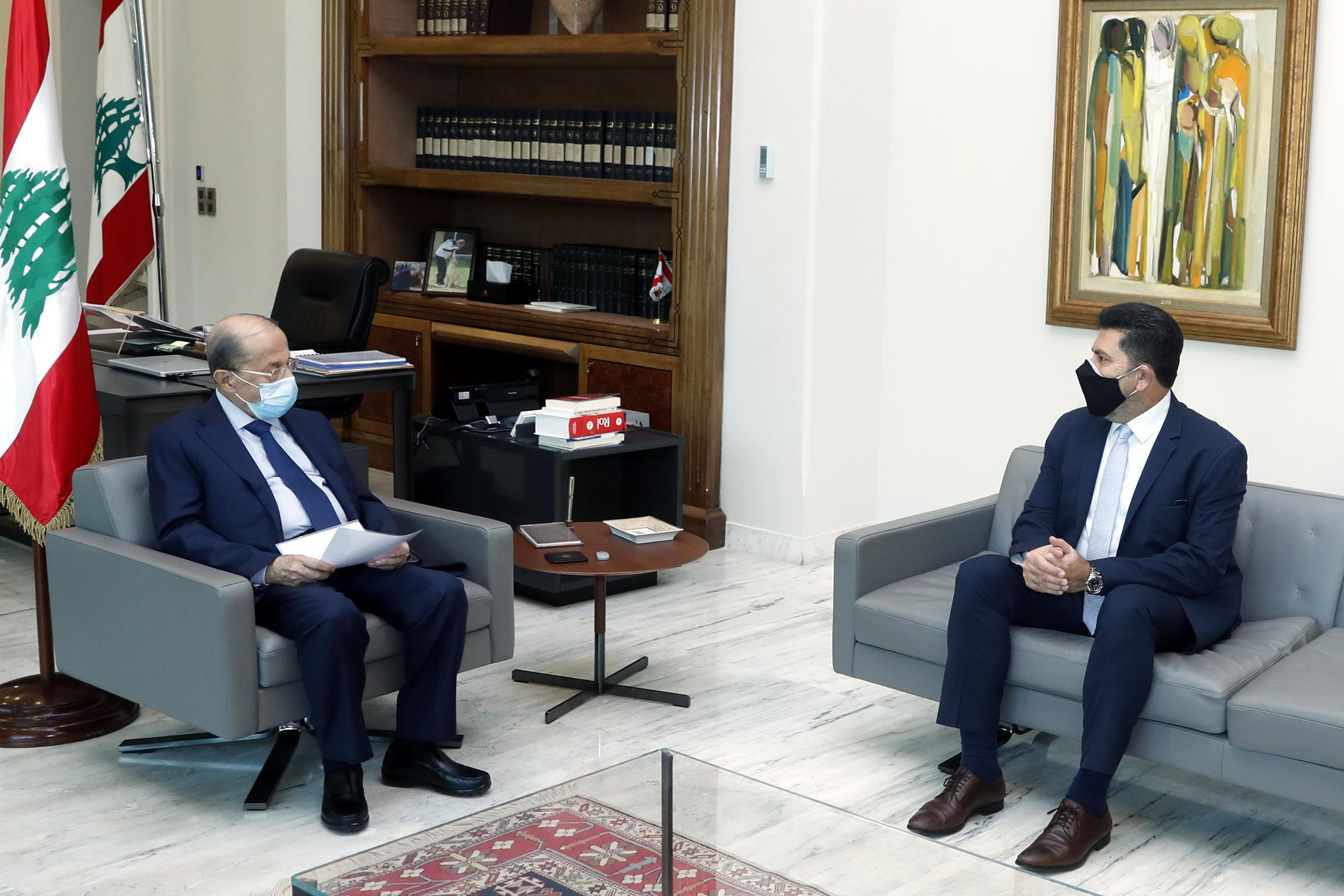 2 - Minister Raymond Ghajar and former Minister Nada Boustan 1i