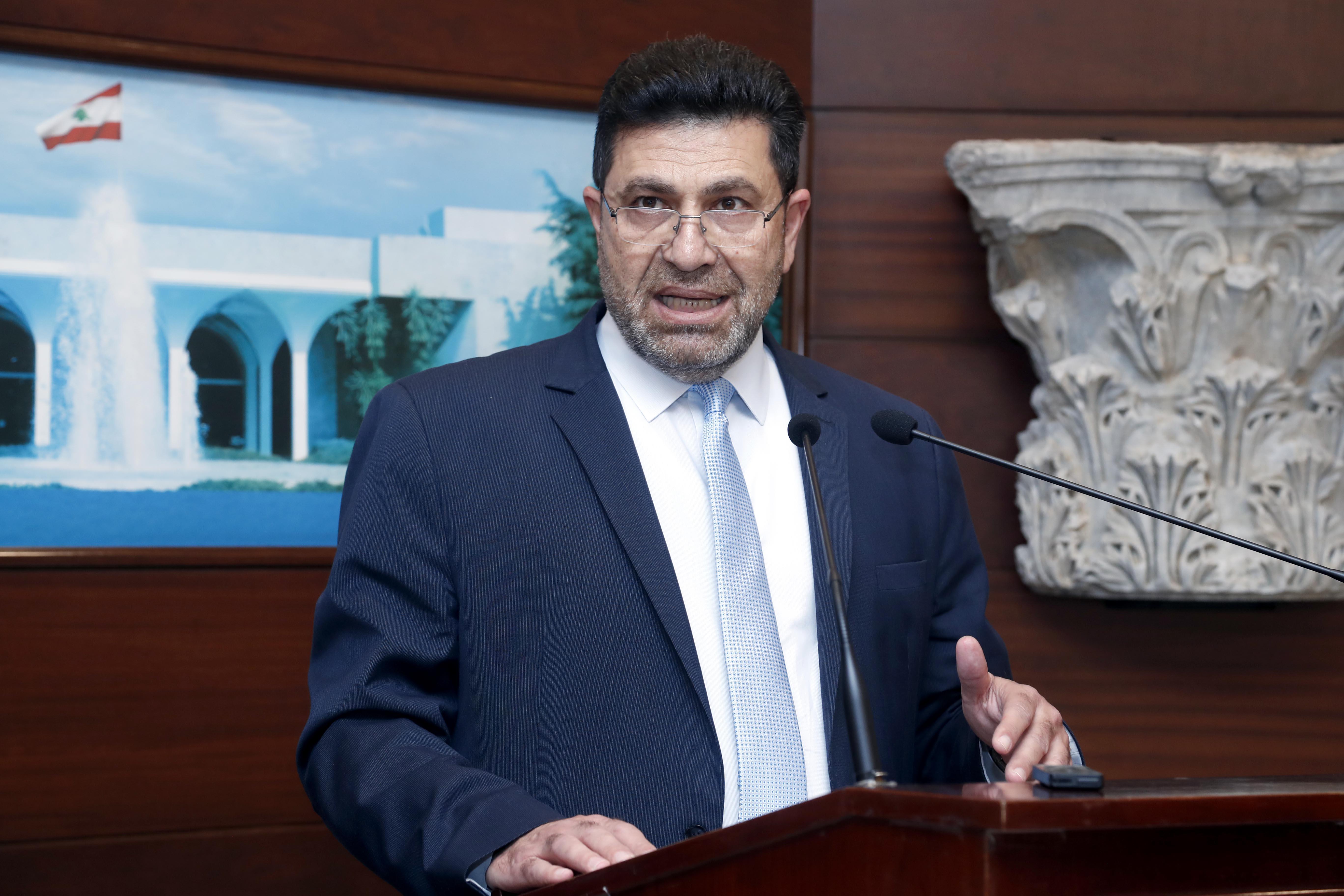 2 - Minister Raymond Ghajar and former Minister Nada Boustan 2i