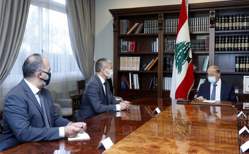 President Michel Aoun meets Mr. Ayaki ITTO new Representative of the United Nations High Commissioner for Refugees in Lebanon. (UNHCR).
