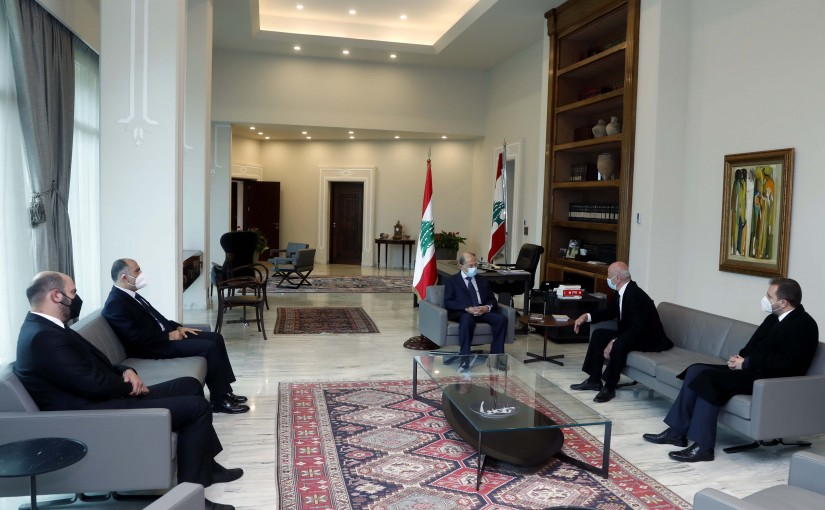 President Michel Aoun meets The Family of the Late MP Jean Obeid.
