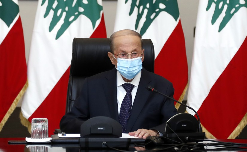 President Michel Aoun chairs an economic and financial security meeting.