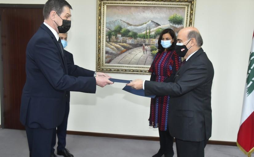 Minister Charbel Wehbeh meets Romanian Ambassador