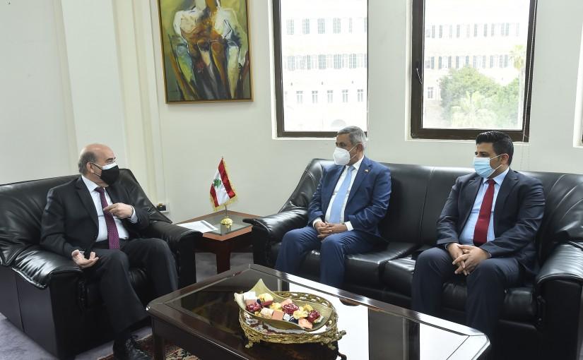 Minister Charbel Wehbeh meets Yemen Ambassador