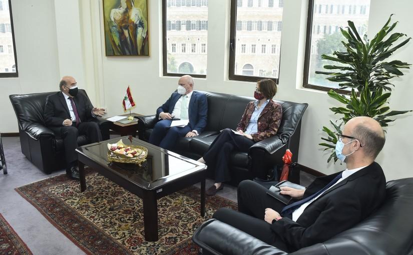 Minister Charbel Wehbeh meets a Delegation from European Ambassador