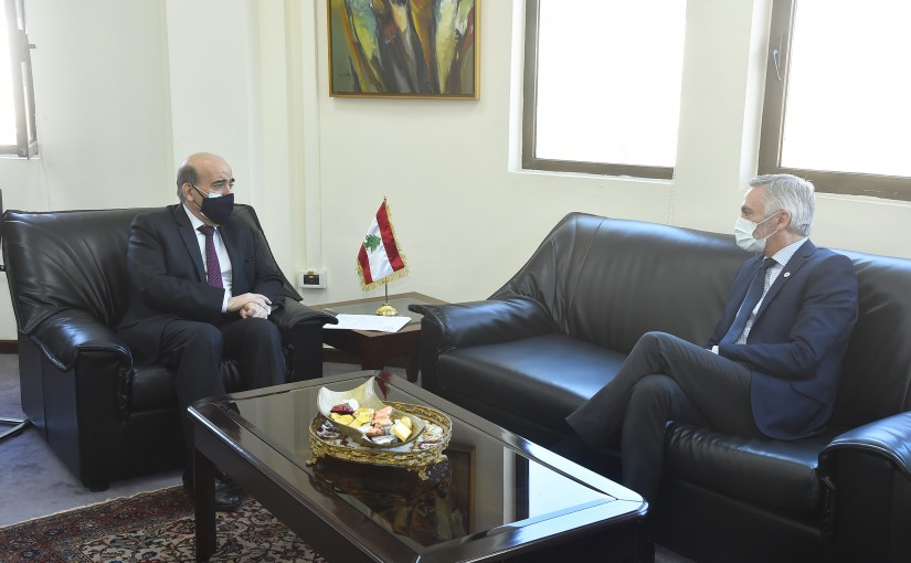 Minister Charbel Wehbeh meets a Delegation from Red Cross