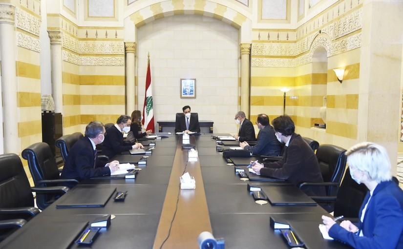 Pr Minister Hassan Diab meets European Ambassador with a Delegation