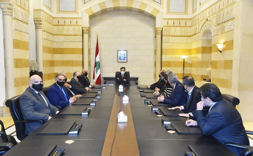 Pr Minister Hassan Diab meets a Delegation from Culture Lebanese University