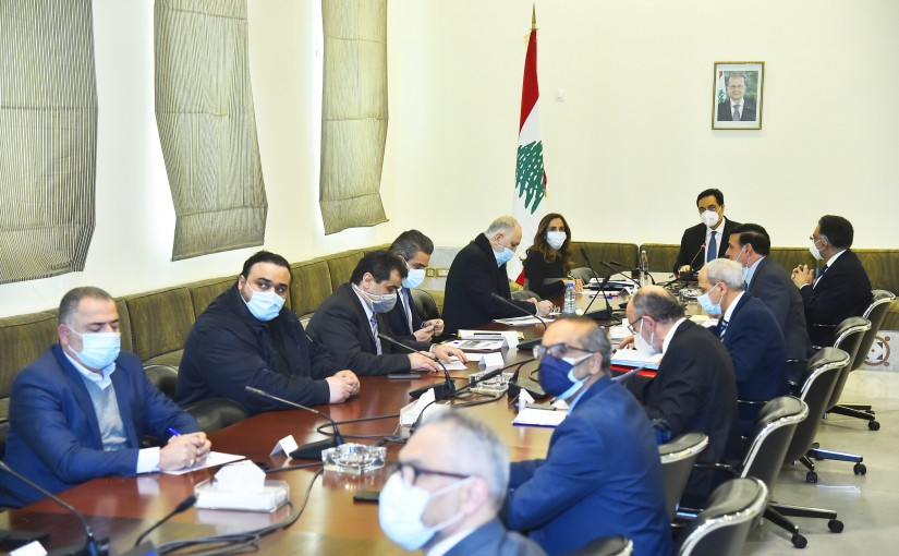 Pr Minister Hassan Diab Heading a Environmental Committee