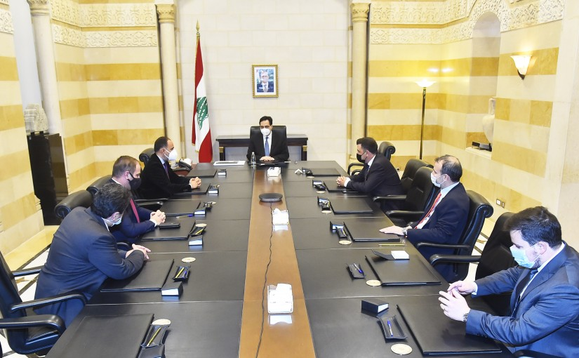 Pr Minister Hassan Diab meets a Delegation from Idal