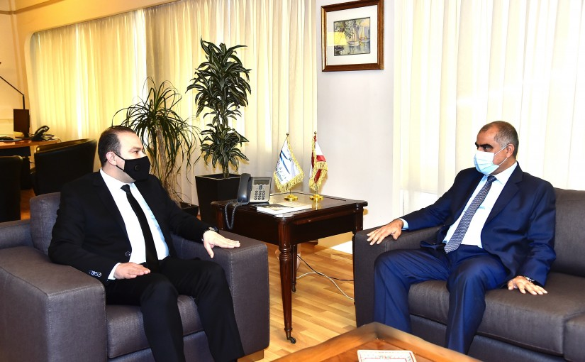 Minister Abass Mourtada meets Oman Ambassador