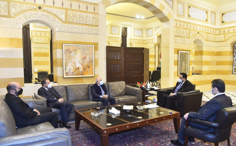 Pr Minister Hassan Diab meets the Family of the Late MP Jean Obeid