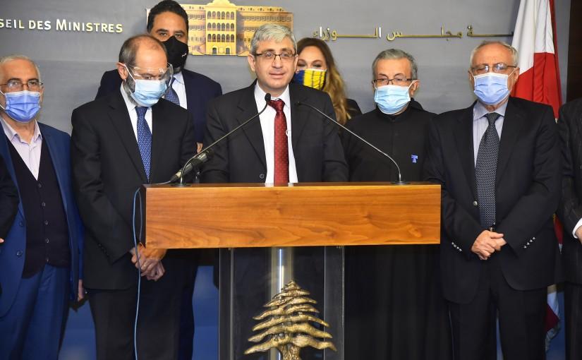 Press Conference of Minister Tarek el Mazzoub