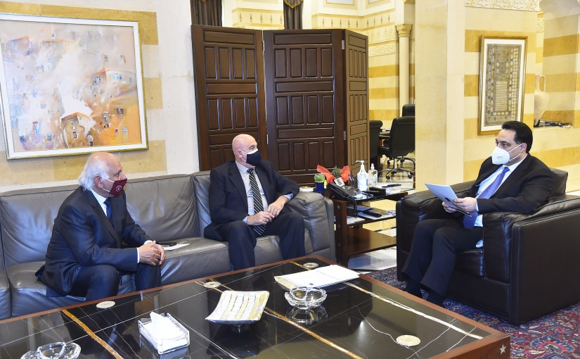 Pr Minister Hassan Diab meets Minister Imad Heballah with a Delegation
