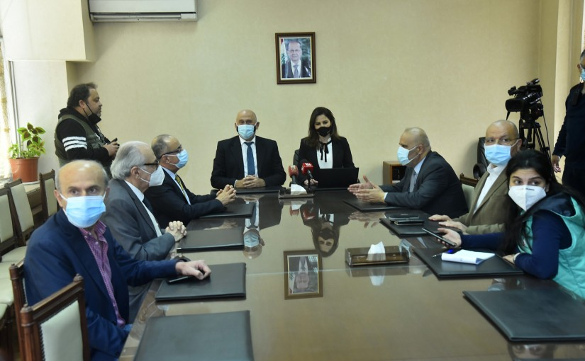 Press Conference for Minister Manal Abdel Samad & Minister Imad Heballah