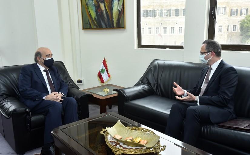 Minister Charbel Wehbeh meets Turkish Ambassador