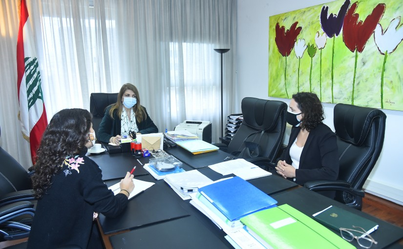 Minister Marie Claude Najem meets a Delegation from Lebanese Association