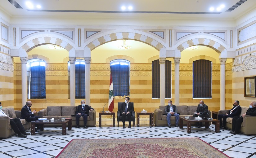 Pr Minister Hassan Diab meets a Delegation from Lebanese Farmers Syndicate