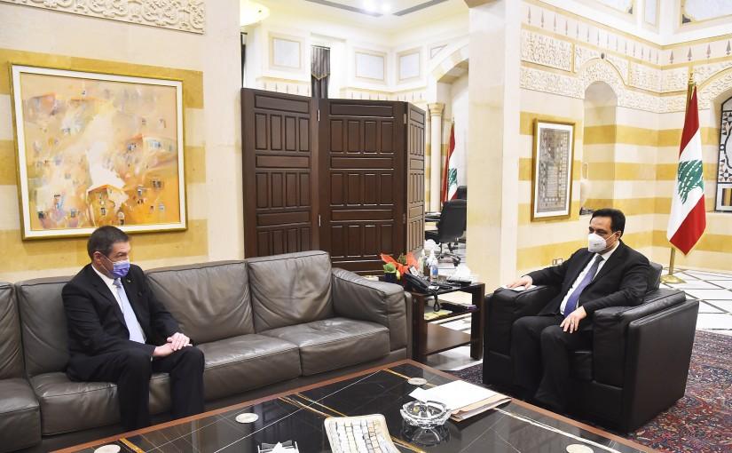 Pr Minister Hassan Diab meets Romanian Ambassador