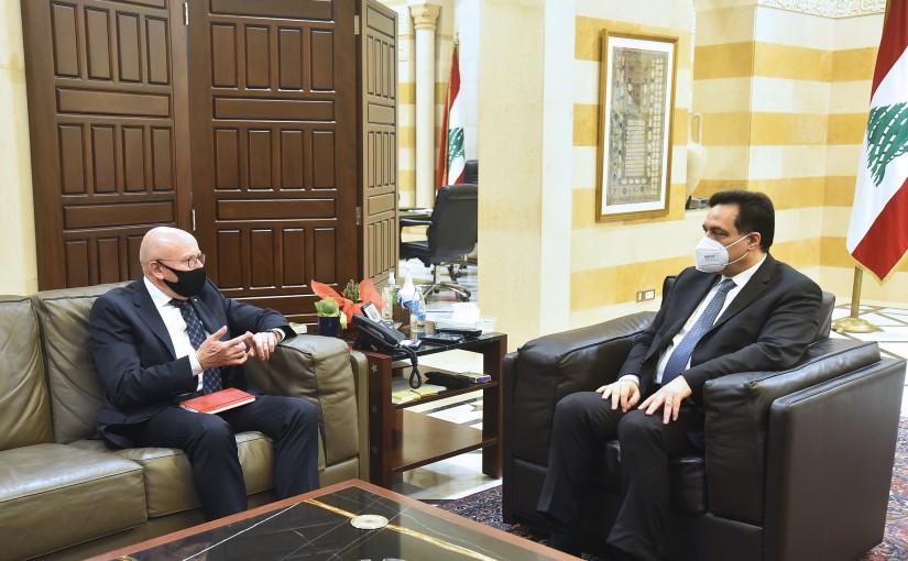 Pr Minister Hassan Diab meets Uruguay Ambassador
