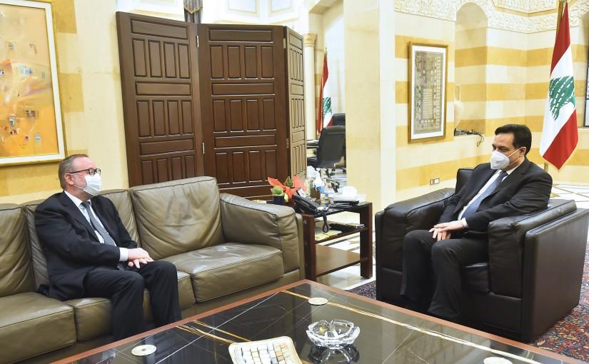 Pr Minister Hassan Diab meets Norway Ambassador