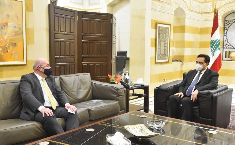 Pr Minister Hassan Diab meets British Ambassador