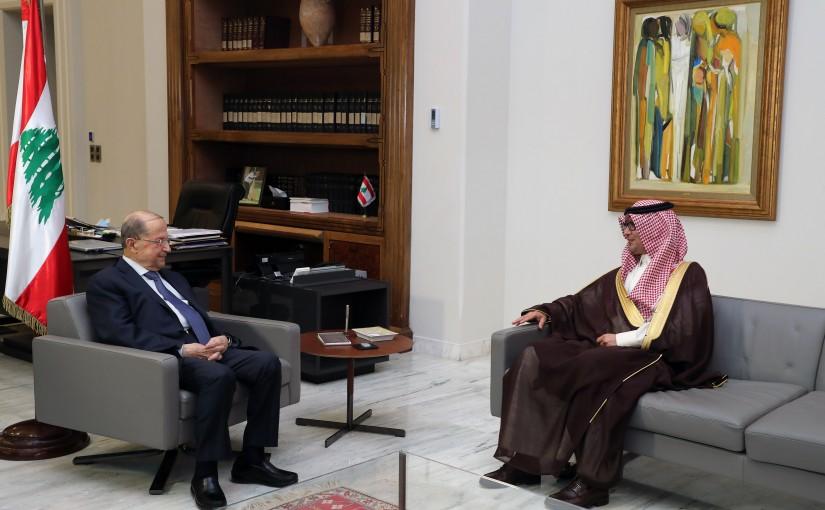 President Michel Aoun meets Saudi Ambassador Walid bin Abdullah Bukhari