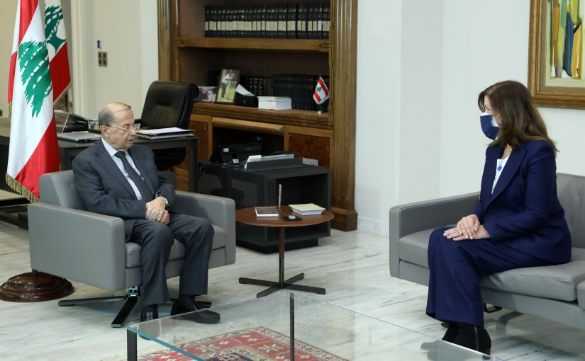 President Michel Aoun meets Ambassador of the United States Dorothy Camille Shea