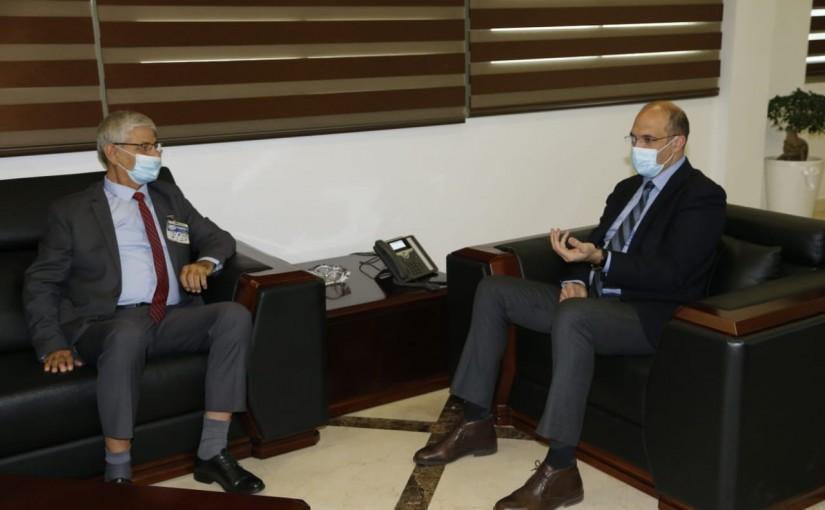 Minister Hassan Hamad meets MP Bakri el Houjeiry