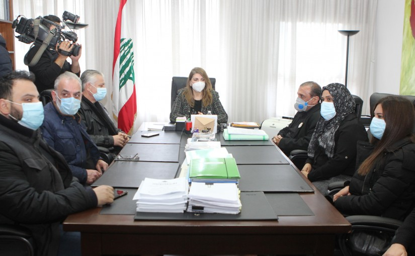 Minister Marie Claude Najem meets a Delegation the Family of Beirut Martyrs