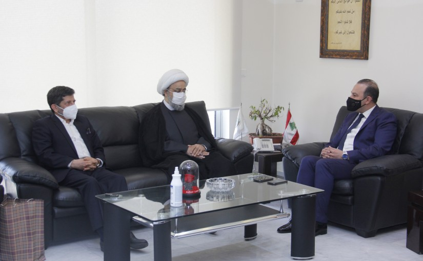 Minister Abass Mourtada meets a Iranian Delegation