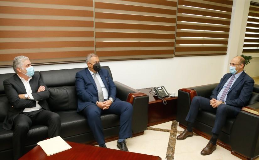 Minister Hassan Hamad meets Beirut Mayor