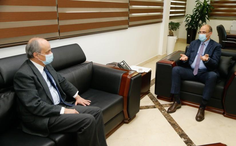 Minister Hassan Hamad meets Spanish Ambassador