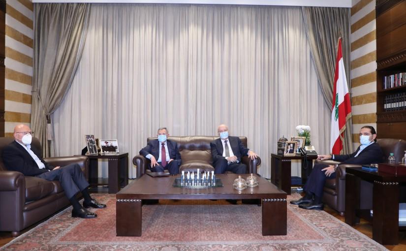 Pr Minister Saad Hariri meets a Delegation from Formers Pr Minister