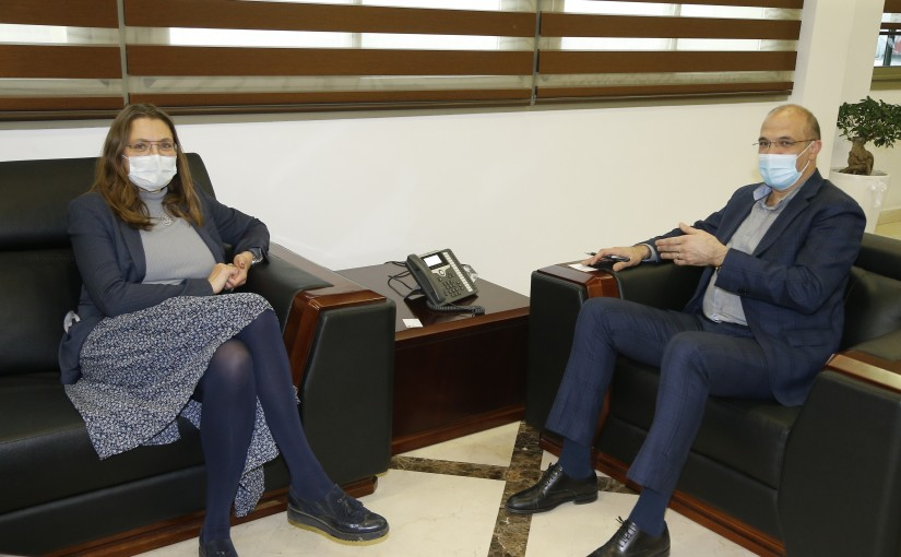 Minister Hassan Hamad meets Denmark Ambassador