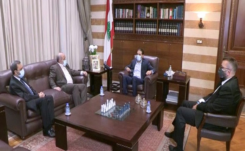 Pr Minister Saad Hariri meets a Delegation from Islamic Group