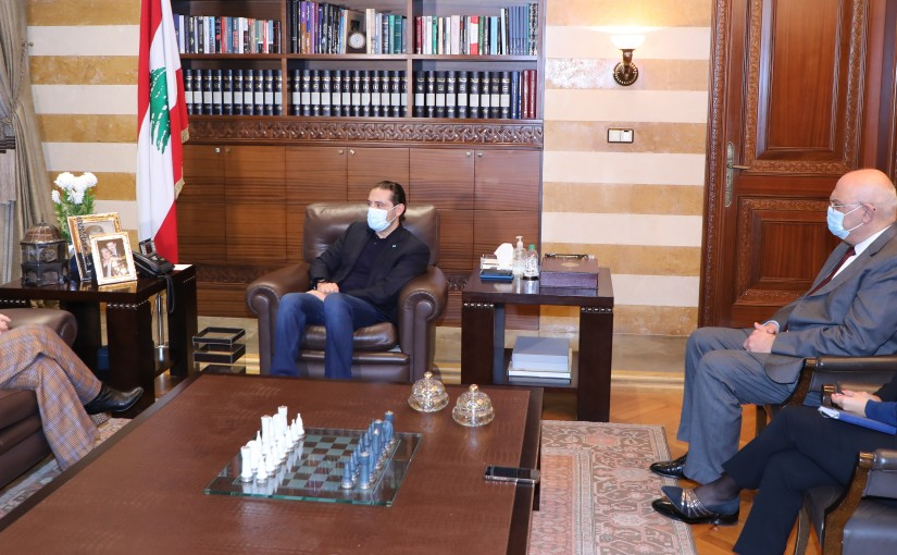 Pr Minister Saad Hariri meets Mrs Najat Roushdi