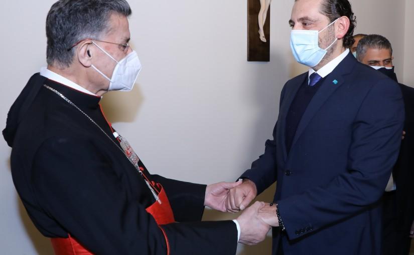Pr Minister Saad Hariri meets Patriarch Boutros Raii
