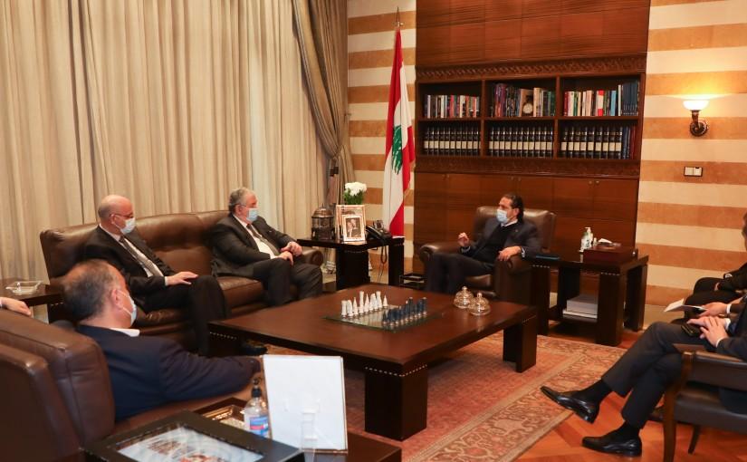 Pr Minister Saad Hariri meets a Delegation from Almustaqbal mps