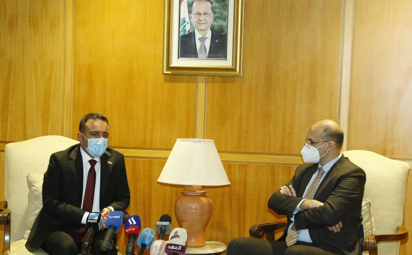 Minister Hassan Hamad meets Iraqi Minister of Health