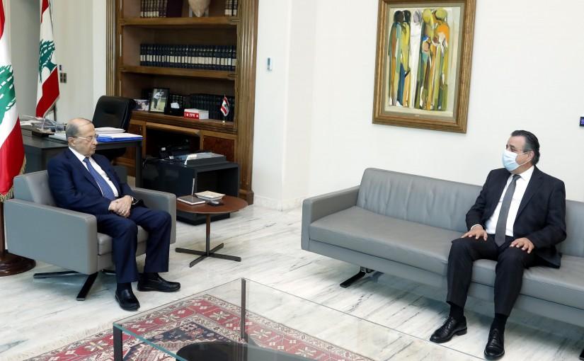 President Michel Aoun meets MP Roger Azar.