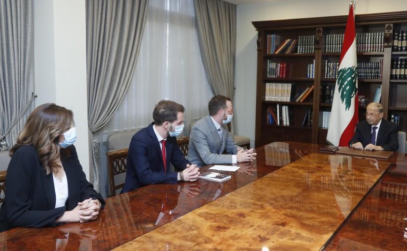 President Michel Aoun meets Mr. Benjamin Blanchehard.