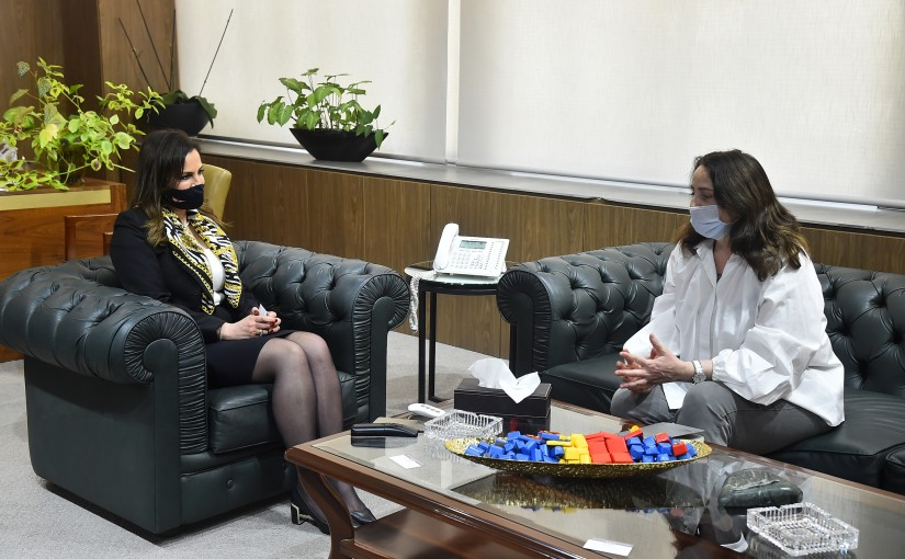 Minister Manal Abdel Samad meets a Delegation from Francophone