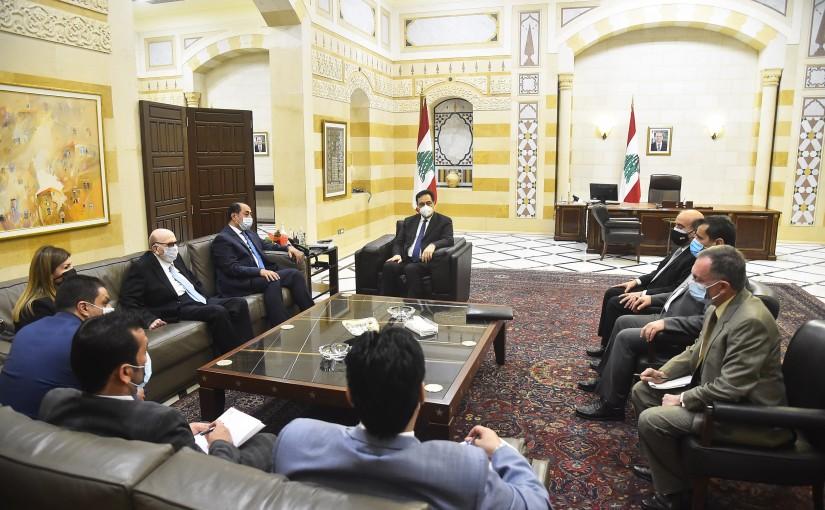 Pr Minister Hassan Diab meets Mr Houssam Zaki